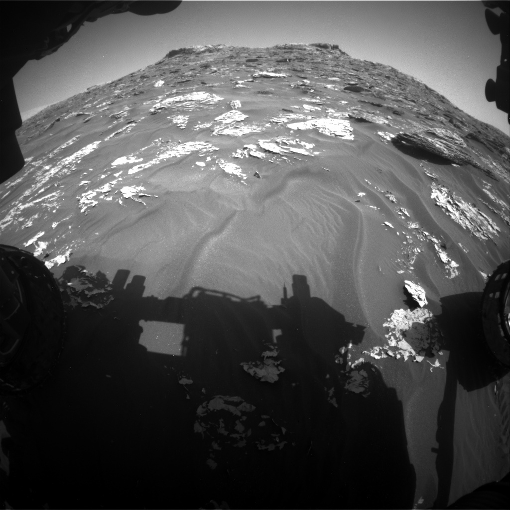 NASA's Mars rover Curiosity acquired this image using its Front Hazard Avoidance Cameras (Front Hazcams) on Sol 1754