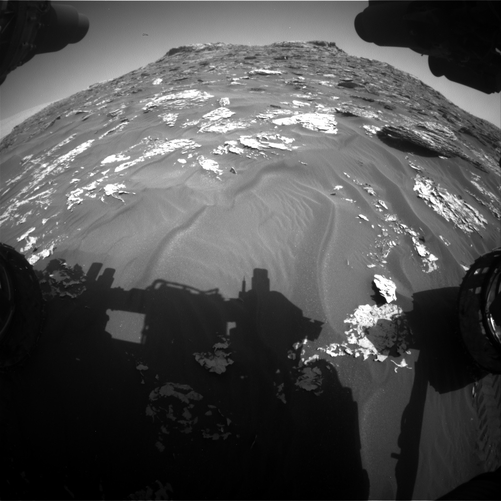 Nasa's Mars rover Curiosity acquired this image using its Front Hazard Avoidance Camera (Front Hazcam) on Sol 1754, at drive 2790, site number 64