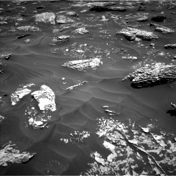 Nasa's Mars rover Curiosity acquired this image using its Left Navigation Camera on Sol 1754, at drive 2448, site number 64