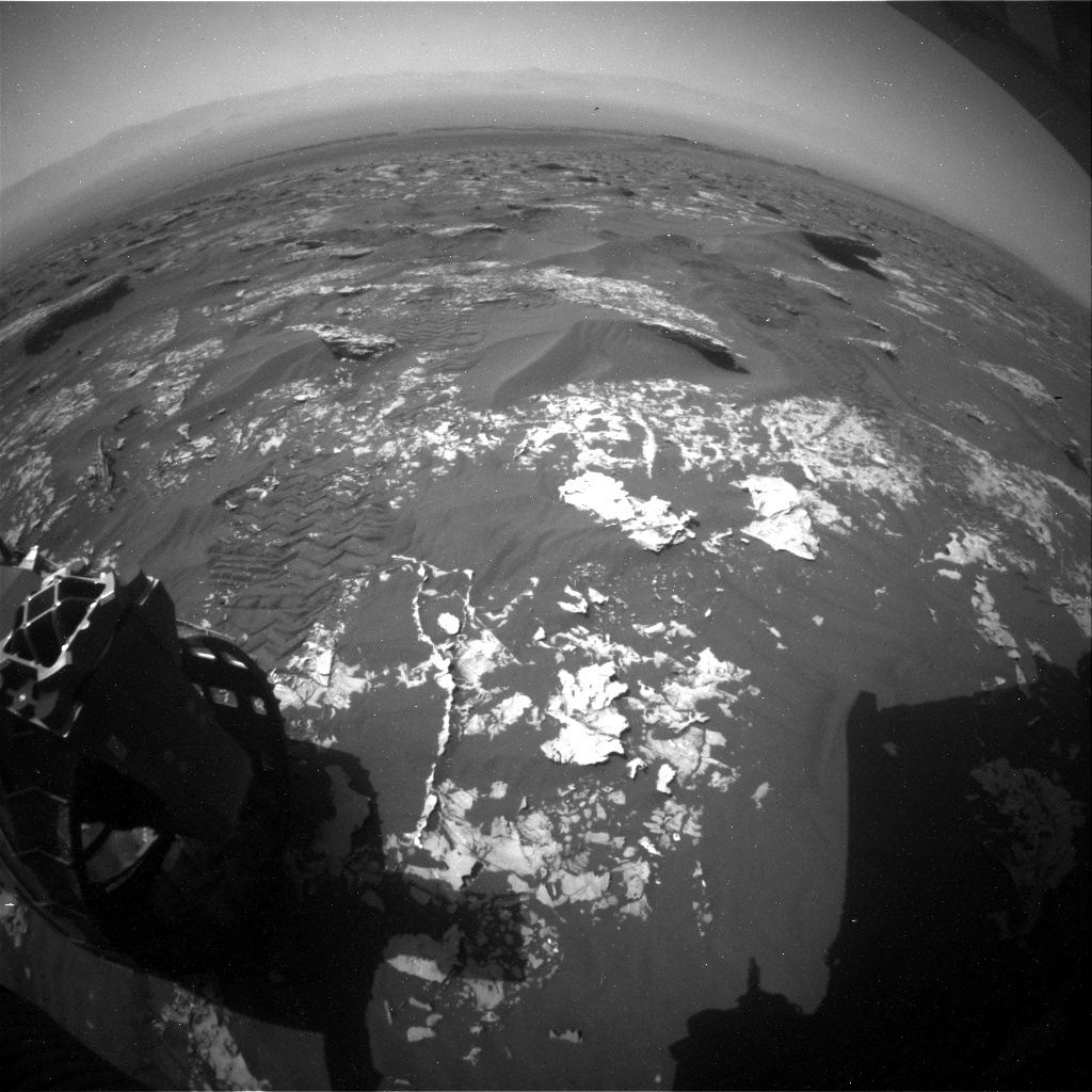 NASA's Mars rover Curiosity acquired this image using its Rear Hazard Avoidance Cameras (Rear Hazcams) on Sol 1754