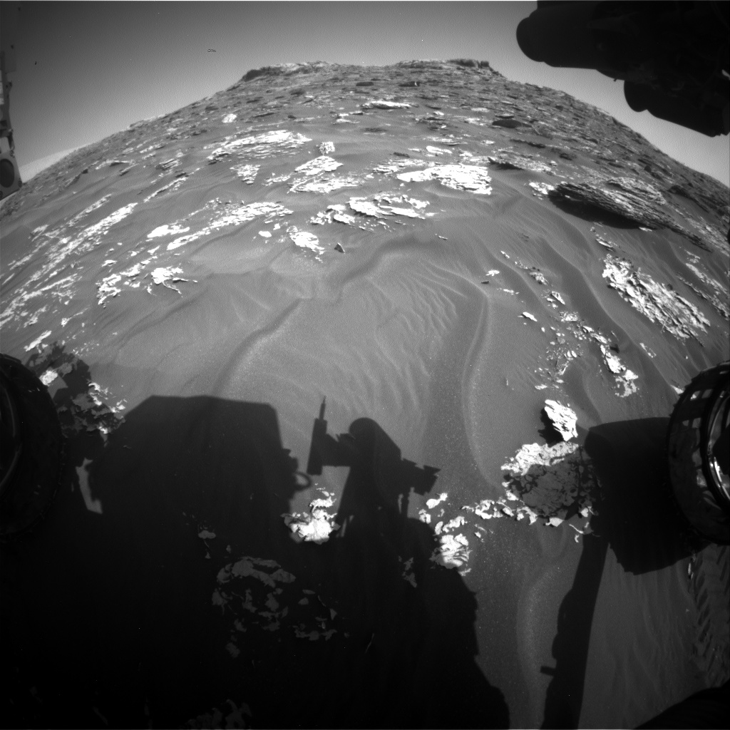 Nasa's Mars rover Curiosity acquired this image using its Front Hazard Avoidance Camera (Front Hazcam) on Sol 1755, at drive 2790, site number 64