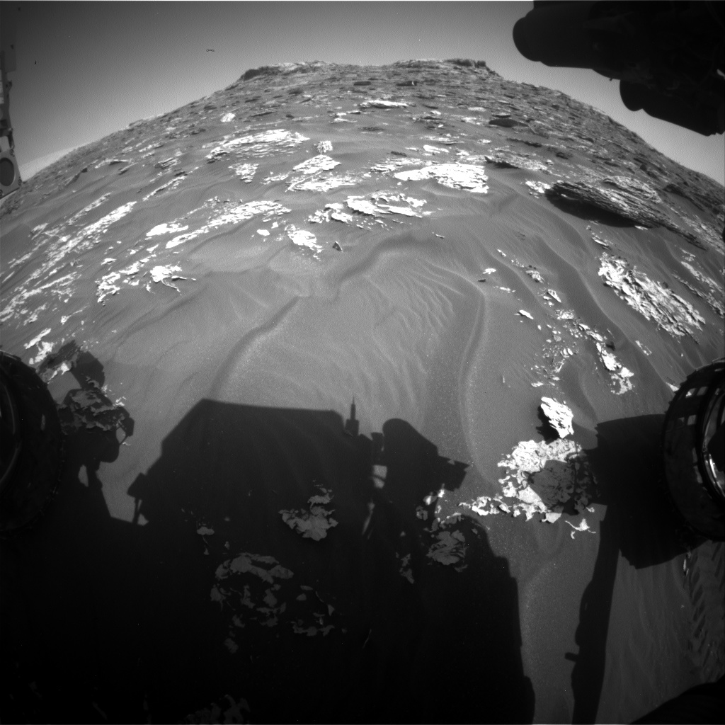 Nasa's Mars rover Curiosity acquired this image using its Front Hazard Avoidance Camera (Front Hazcam) on Sol 1756, at drive 2790, site number 64