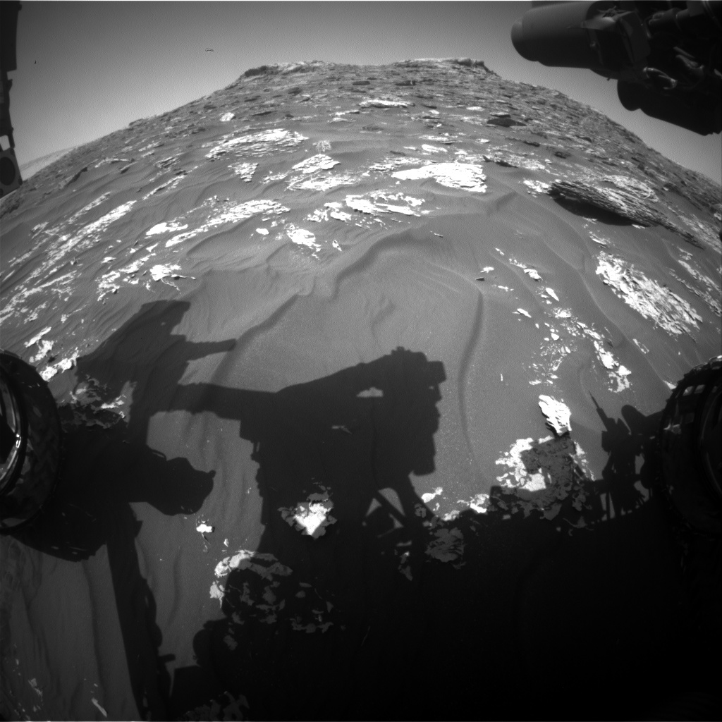 Nasa's Mars rover Curiosity acquired this image using its Front Hazard Avoidance Camera (Front Hazcam) on Sol 1757, at drive 2790, site number 64