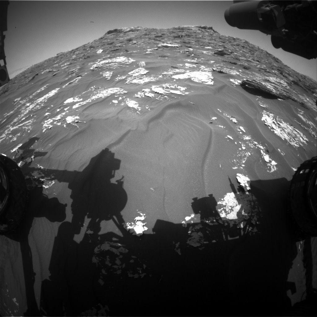 Nasa's Mars rover Curiosity acquired this image using its Front Hazard Avoidance Camera (Front Hazcam) on Sol 1758, at drive 2790, site number 64