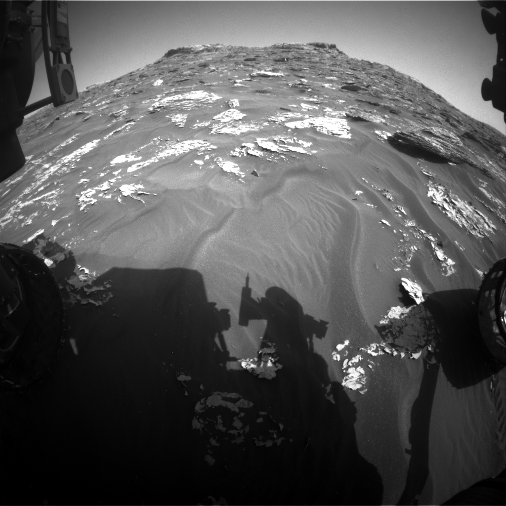 Nasa's Mars rover Curiosity acquired this image using its Front Hazard Avoidance Camera (Front Hazcam) on Sol 1759, at drive 2790, site number 64