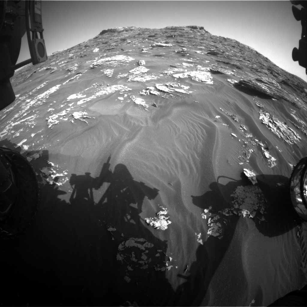 Nasa's Mars rover Curiosity acquired this image using its Front Hazard Avoidance Camera (Front Hazcam) on Sol 1760, at drive 2790, site number 64