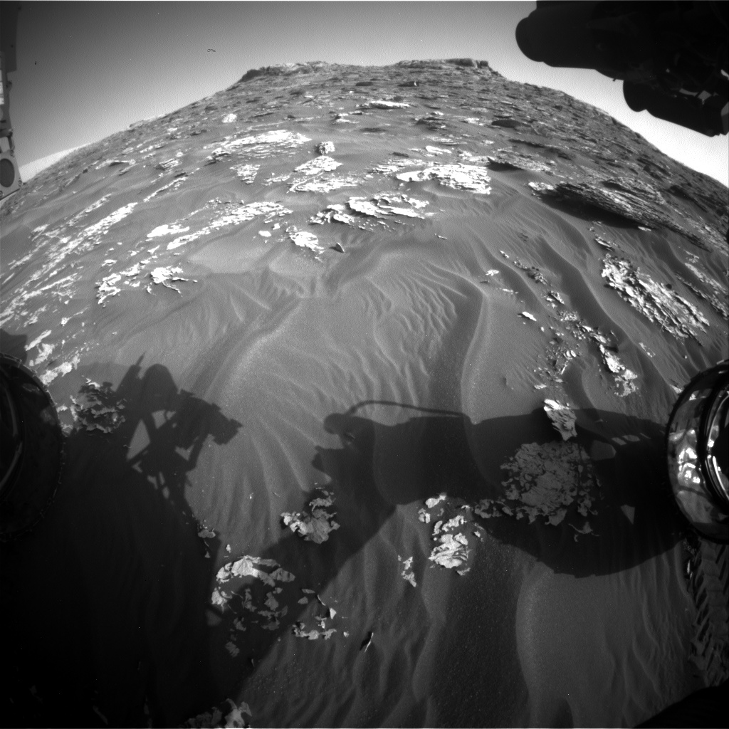 Nasa's Mars rover Curiosity acquired this image using its Front Hazard Avoidance Camera (Front Hazcam) on Sol 1762, at drive 2790, site number 64