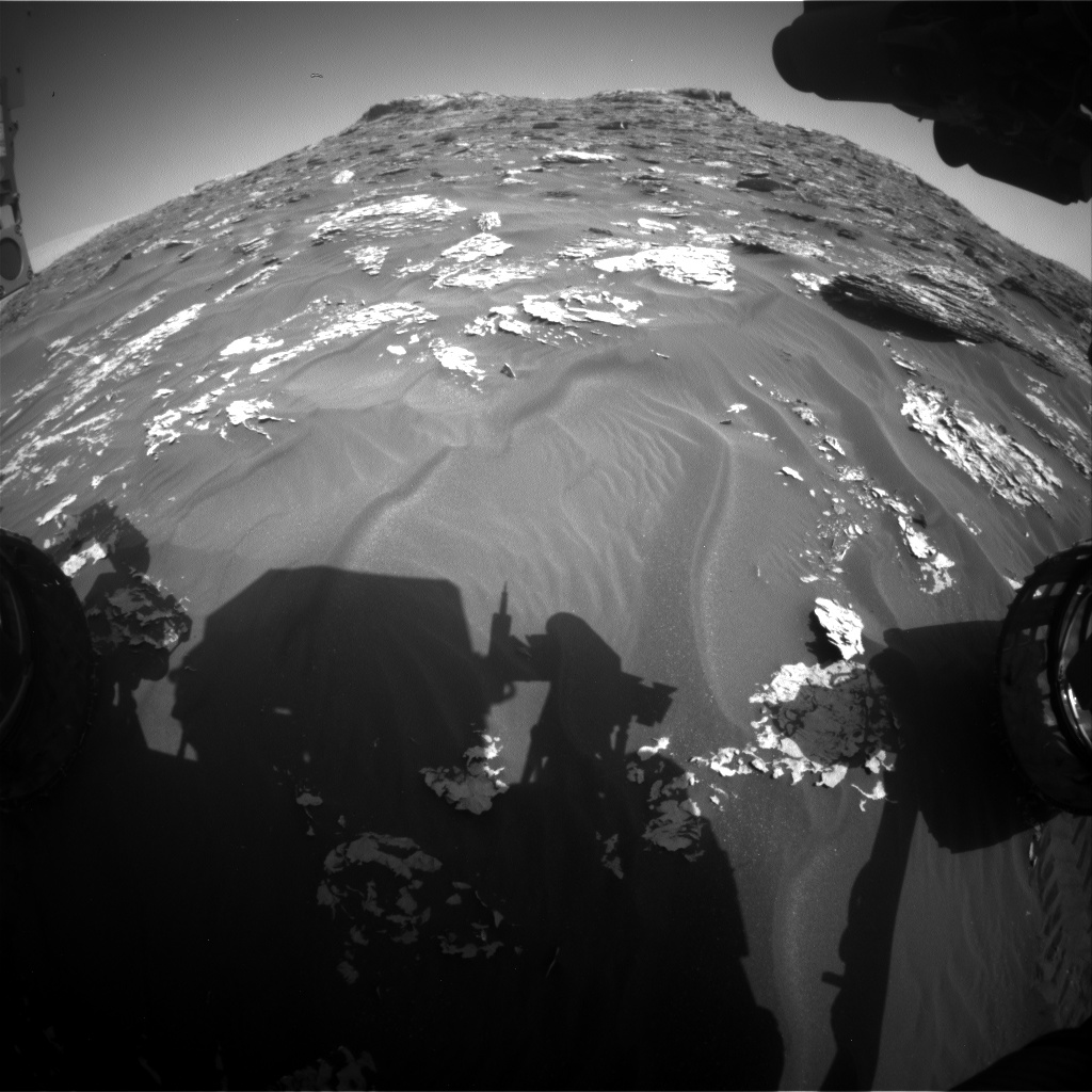 Nasa's Mars rover Curiosity acquired this image using its Front Hazard Avoidance Camera (Front Hazcam) on Sol 1766, at drive 2790, site number 64