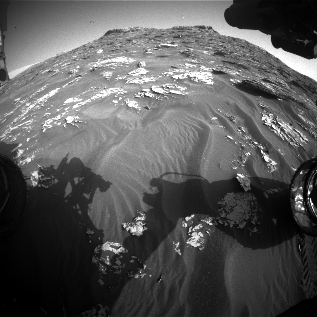 Nasa's Mars rover Curiosity acquired this image using its Front Hazard Avoidance Camera (Front Hazcam) on Sol 1769, at drive 2790, site number 64