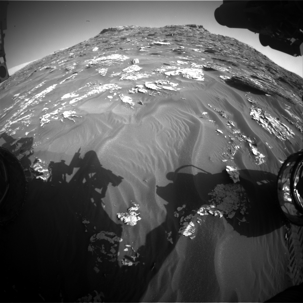 Nasa's Mars rover Curiosity acquired this image using its Front Hazard Avoidance Camera (Front Hazcam) on Sol 1775, at drive 2790, site number 64