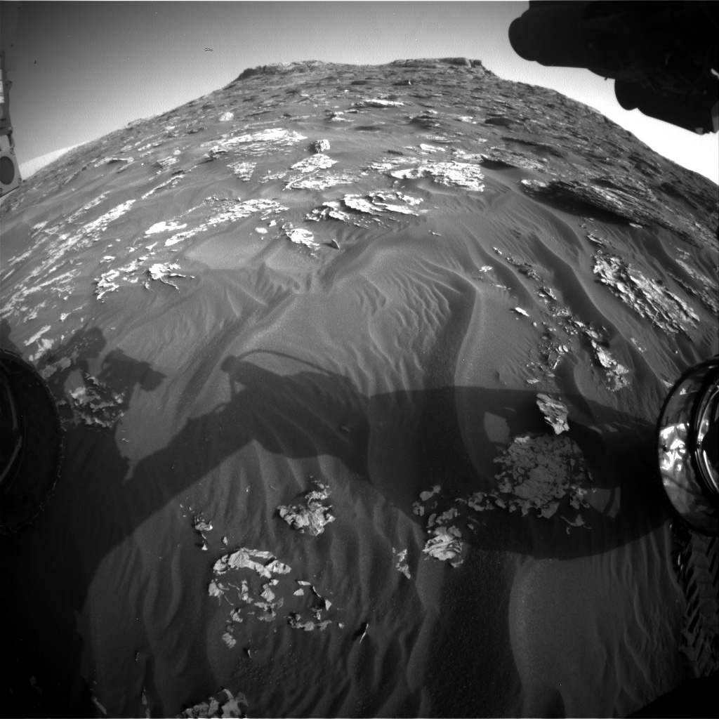 Nasa's Mars rover Curiosity acquired this image using its Front Hazard Avoidance Camera (Front Hazcam) on Sol 1777, at drive 2790, site number 64