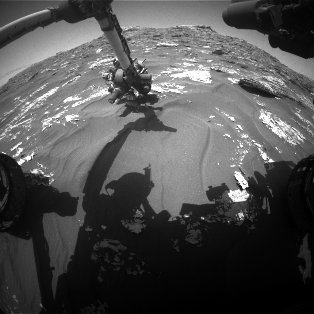 NASA's Mars rover Curiosity acquired this image using its Front Hazard Avoidance Cameras (Front Hazcams) on Sol 1781