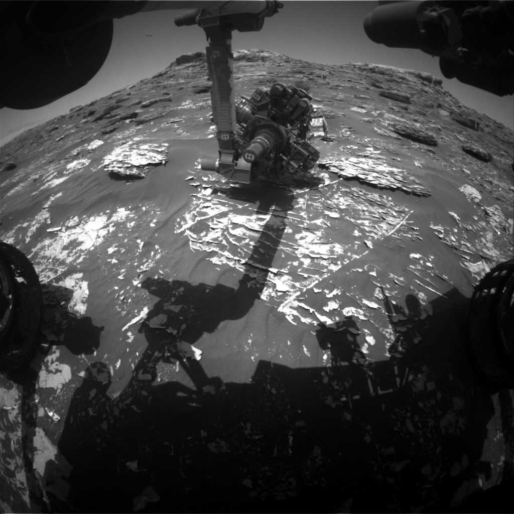 Nasa's Mars rover Curiosity acquired this image using its Front Hazard Avoidance Camera (Front Hazcam) on Sol 1782, at drive 0, site number 65