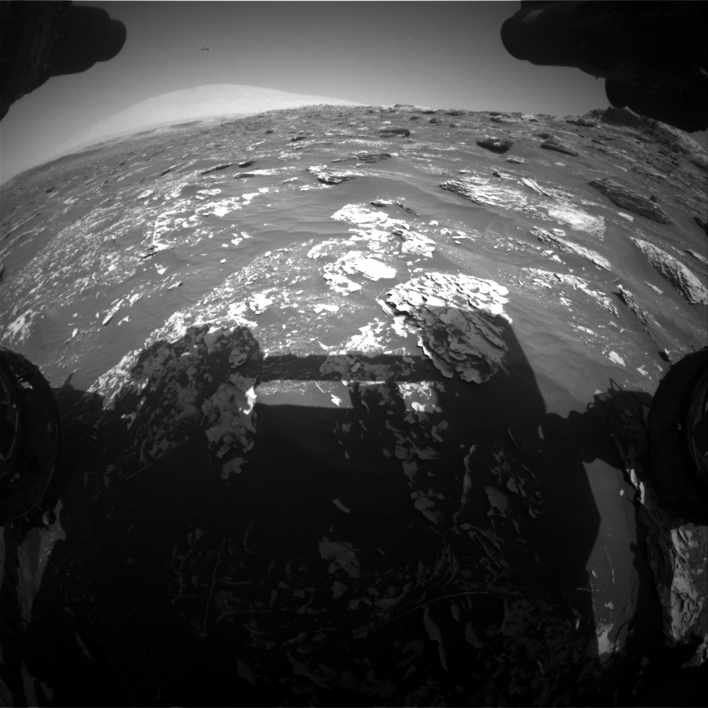 Nasa's Mars rover Curiosity acquired this image using its Front Hazard Avoidance Camera (Front Hazcam) on Sol 1782, at drive 156, site number 65