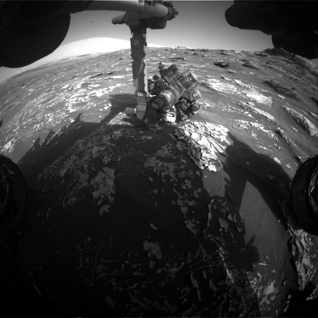 Nasa's Mars rover Curiosity acquired this image using its Front Hazard Avoidance Camera (Front Hazcam) on Sol 1783, at drive 156, site number 65
