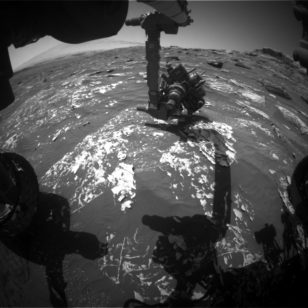 Nasa's Mars rover Curiosity acquired this image using its Front Hazard Avoidance Camera (Front Hazcam) on Sol 1784, at drive 156, site number 65