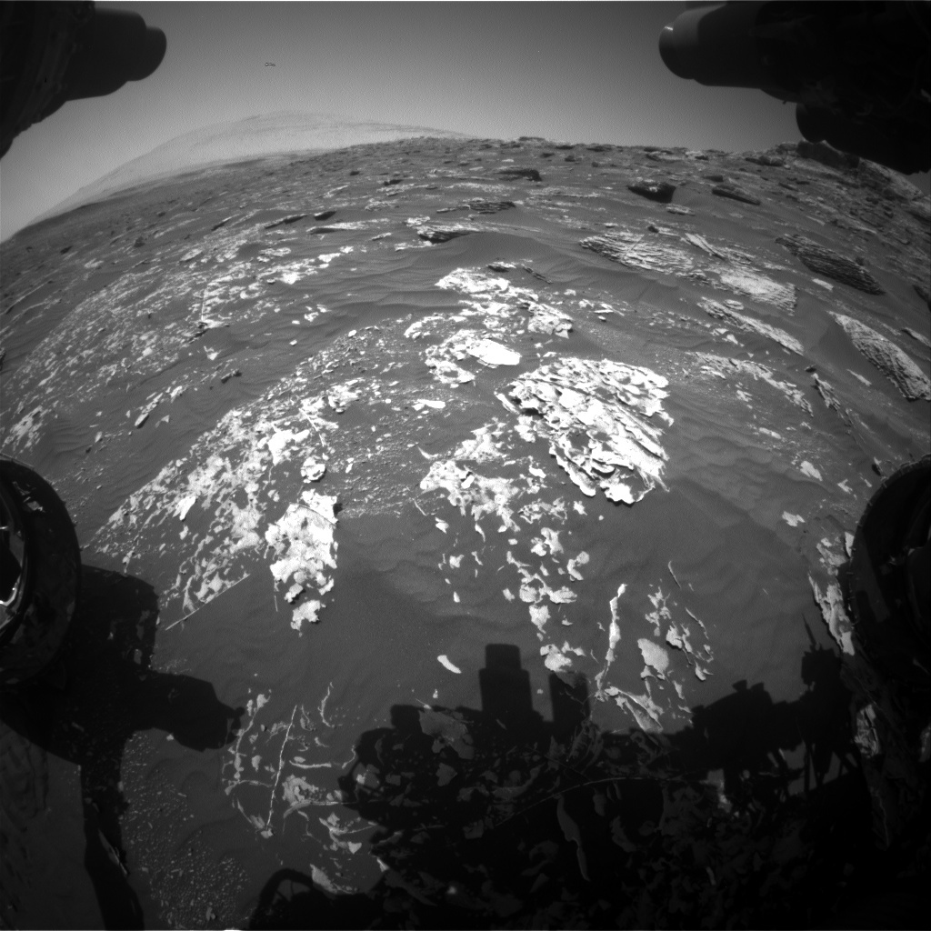 NASA's Mars rover Curiosity acquired this image using its Front Hazard Avoidance Cameras (Front Hazcams) on Sol 1784