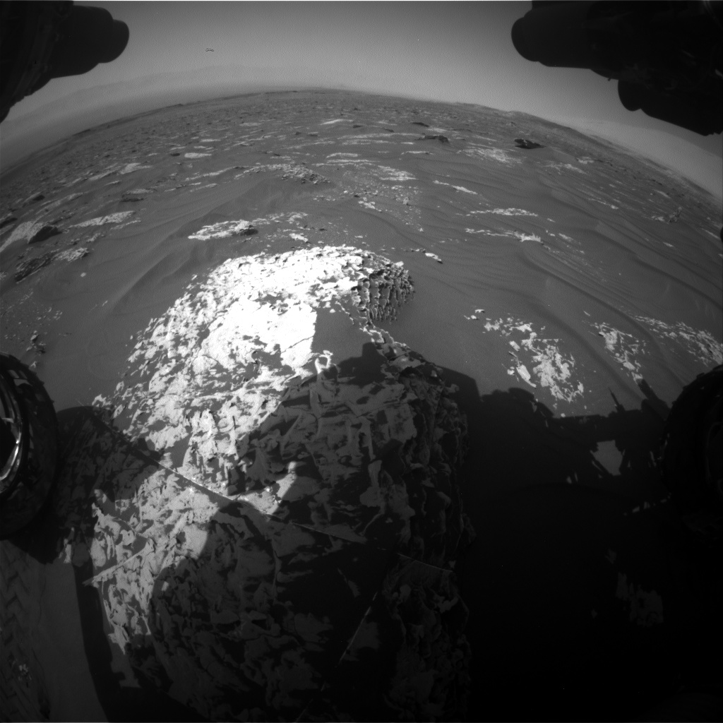 Nasa's Mars rover Curiosity acquired this image using its Front Hazard Avoidance Camera (Front Hazcam) on Sol 1785, at drive 436, site number 65