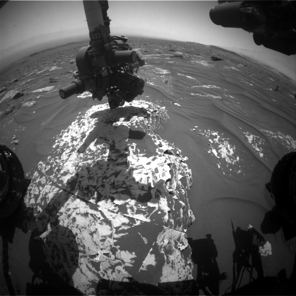 Nasa's Mars rover Curiosity acquired this image using its Front Hazard Avoidance Camera (Front Hazcam) on Sol 1786, at drive 436, site number 65