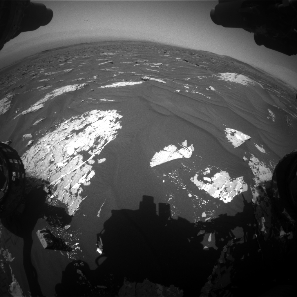 Nasa's Mars rover Curiosity acquired this image using its Front Hazard Avoidance Camera (Front Hazcam) on Sol 1786, at drive 550, site number 65