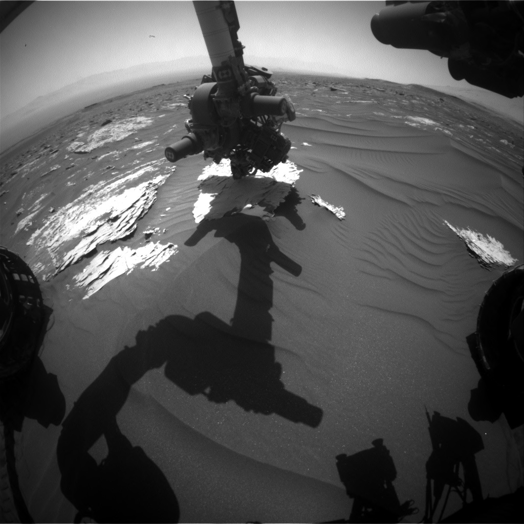 Nasa's Mars rover Curiosity acquired this image using its Front Hazard Avoidance Camera (Front Hazcam) on Sol 1788, at drive 646, site number 65