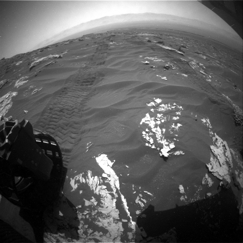 NASA's Mars rover Curiosity acquired this image using its Rear Hazard Avoidance Cameras (Rear Hazcams) on Sol 1788