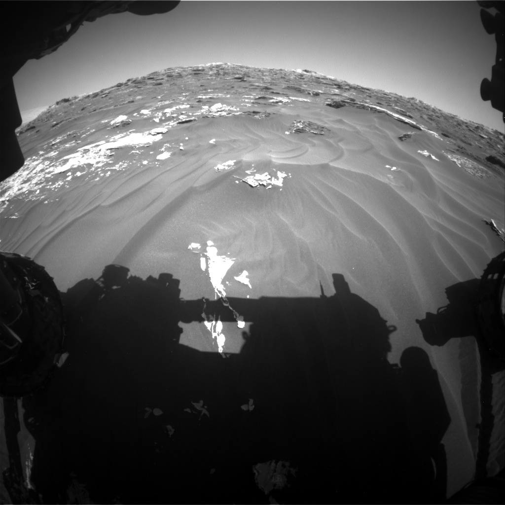 NASA's Mars rover Curiosity acquired this image using its Front Hazard Avoidance Cameras (Front Hazcams) on Sol 1789
