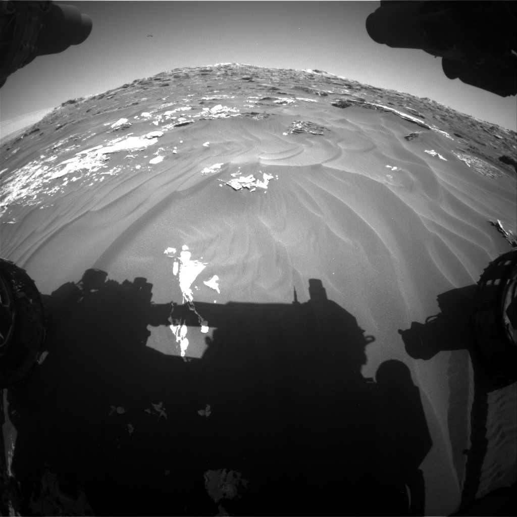 Nasa's Mars rover Curiosity acquired this image using its Front Hazard Avoidance Camera (Front Hazcam) on Sol 1789, at drive 1174, site number 65