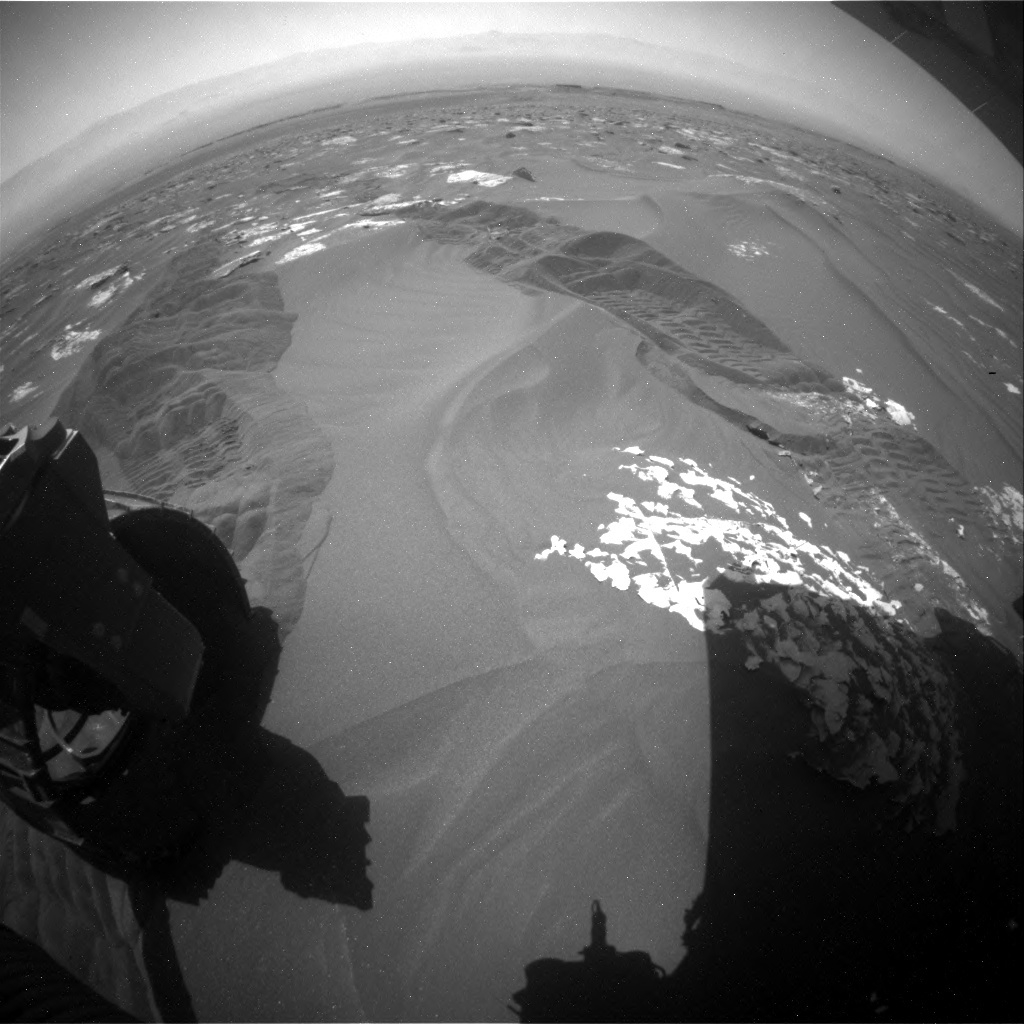 NASA's Mars rover Curiosity acquired this image using its Rear Hazard Avoidance Cameras (Rear Hazcams) on Sol 1789