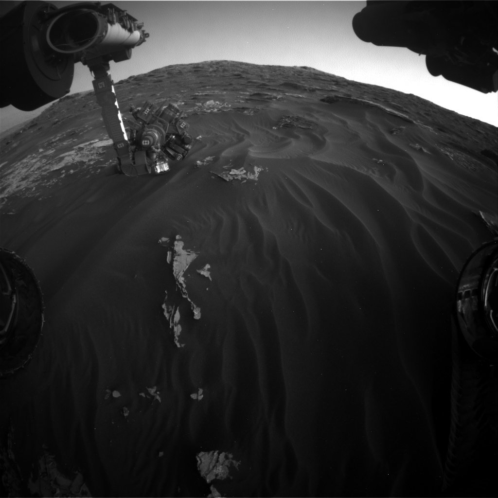 Nasa's Mars rover Curiosity acquired this image using its Front Hazard Avoidance Camera (Front Hazcam) on Sol 1790, at drive 1174, site number 65