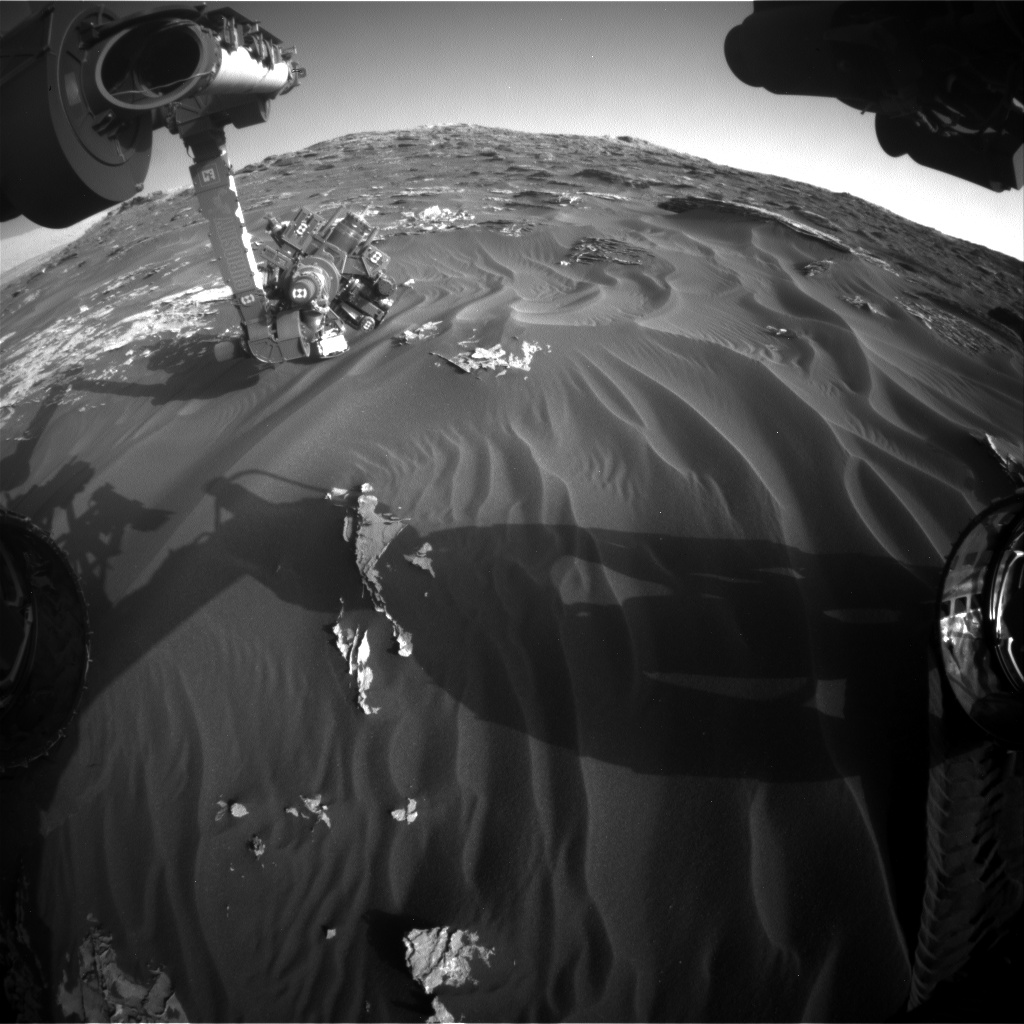 Nasa's Mars rover Curiosity acquired this image using its Front Hazard Avoidance Camera (Front Hazcam) on Sol 1791, at drive 1174, site number 65