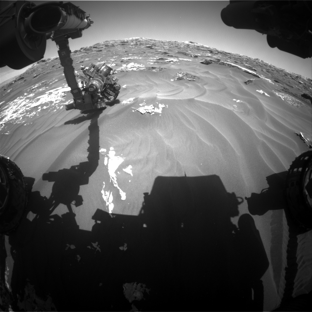 Nasa's Mars rover Curiosity acquired this image using its Front Hazard Avoidance Camera (Front Hazcam) on Sol 1792, at drive 1174, site number 65