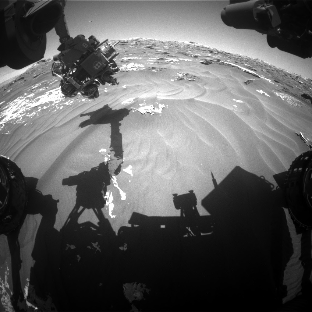 Nasa's Mars rover Curiosity acquired this image using its Front Hazard Avoidance Camera (Front Hazcam) on Sol 1793, at drive 1174, site number 65