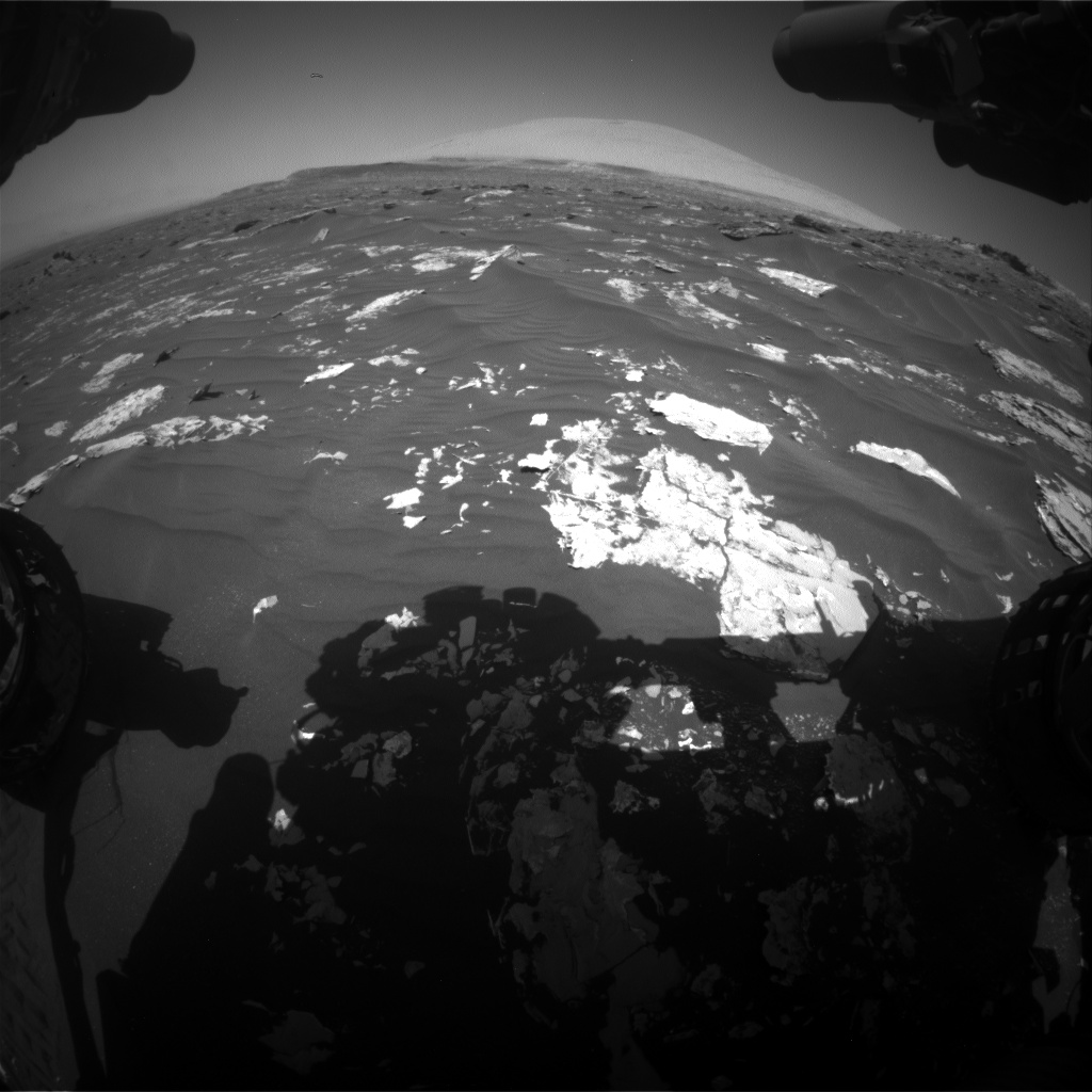 Nasa's Mars rover Curiosity acquired this image using its Front Hazard Avoidance Camera (Front Hazcam) on Sol 1794, at drive 1642, site number 65