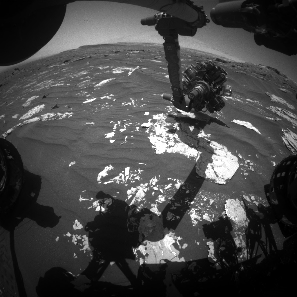 Nasa's Mars rover Curiosity acquired this image using its Front Hazard Avoidance Camera (Front Hazcam) on Sol 1795, at drive 1642, site number 65