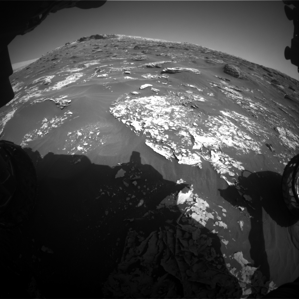 Nasa's Mars rover Curiosity acquired this image using its Front Hazard Avoidance Camera (Front Hazcam) on Sol 1796, at drive 2186, site number 65
