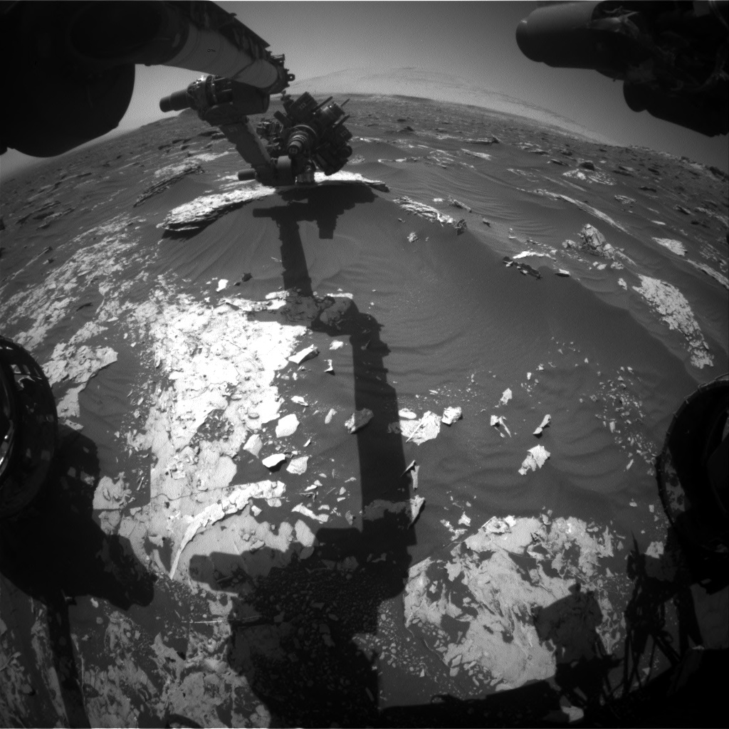 Nasa's Mars rover Curiosity acquired this image using its Front Hazard Avoidance Camera (Front Hazcam) on Sol 1796, at drive 1934, site number 65