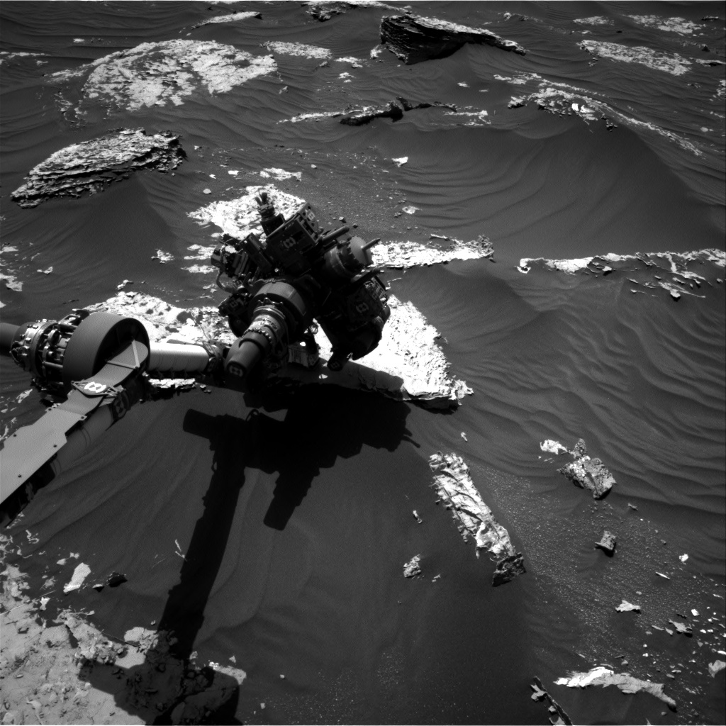 Nasa's Mars rover Curiosity acquired this image using its Right Navigation Camera on Sol 1796, at drive 1934, site number 65