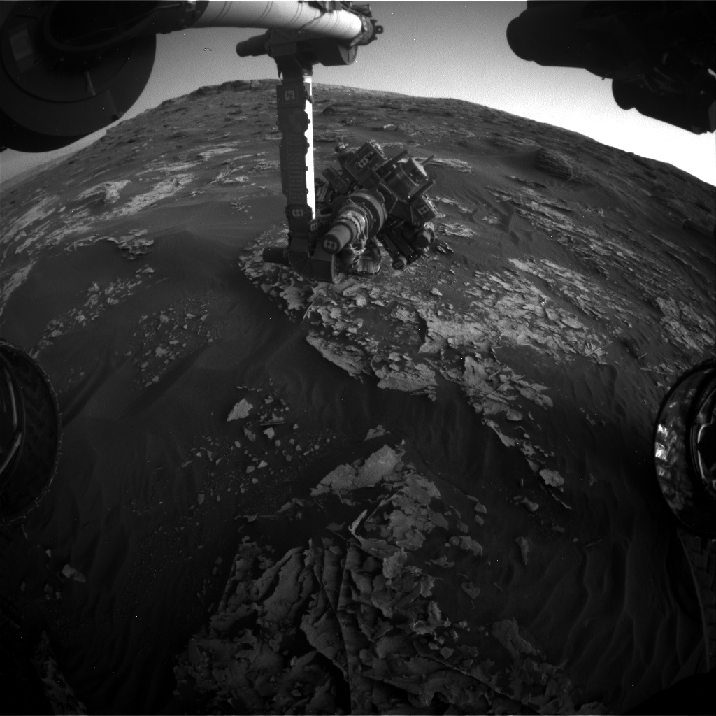Nasa's Mars rover Curiosity acquired this image using its Front Hazard Avoidance Camera (Front Hazcam) on Sol 1797, at drive 2186, site number 65