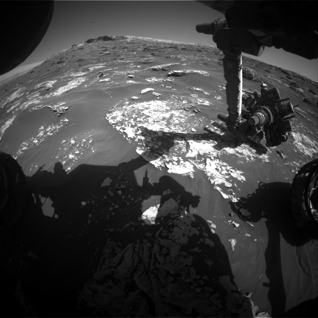 Nasa's Mars rover Curiosity acquired this image using its Front Hazard Avoidance Camera (Front Hazcam) on Sol 1798, at drive 2186, site number 65