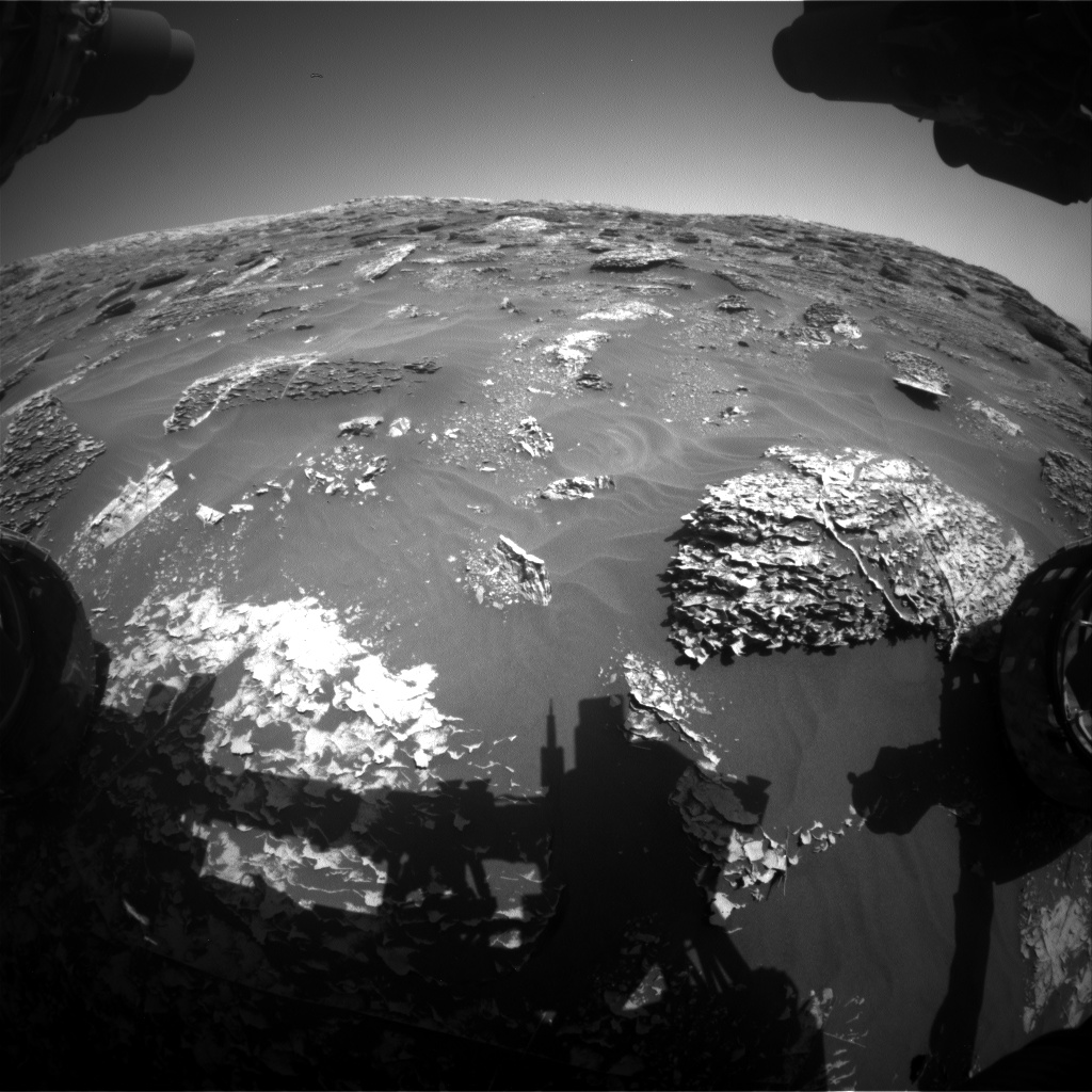 Nasa's Mars rover Curiosity acquired this image using its Front Hazard Avoidance Camera (Front Hazcam) on Sol 1799, at drive 2456, site number 65