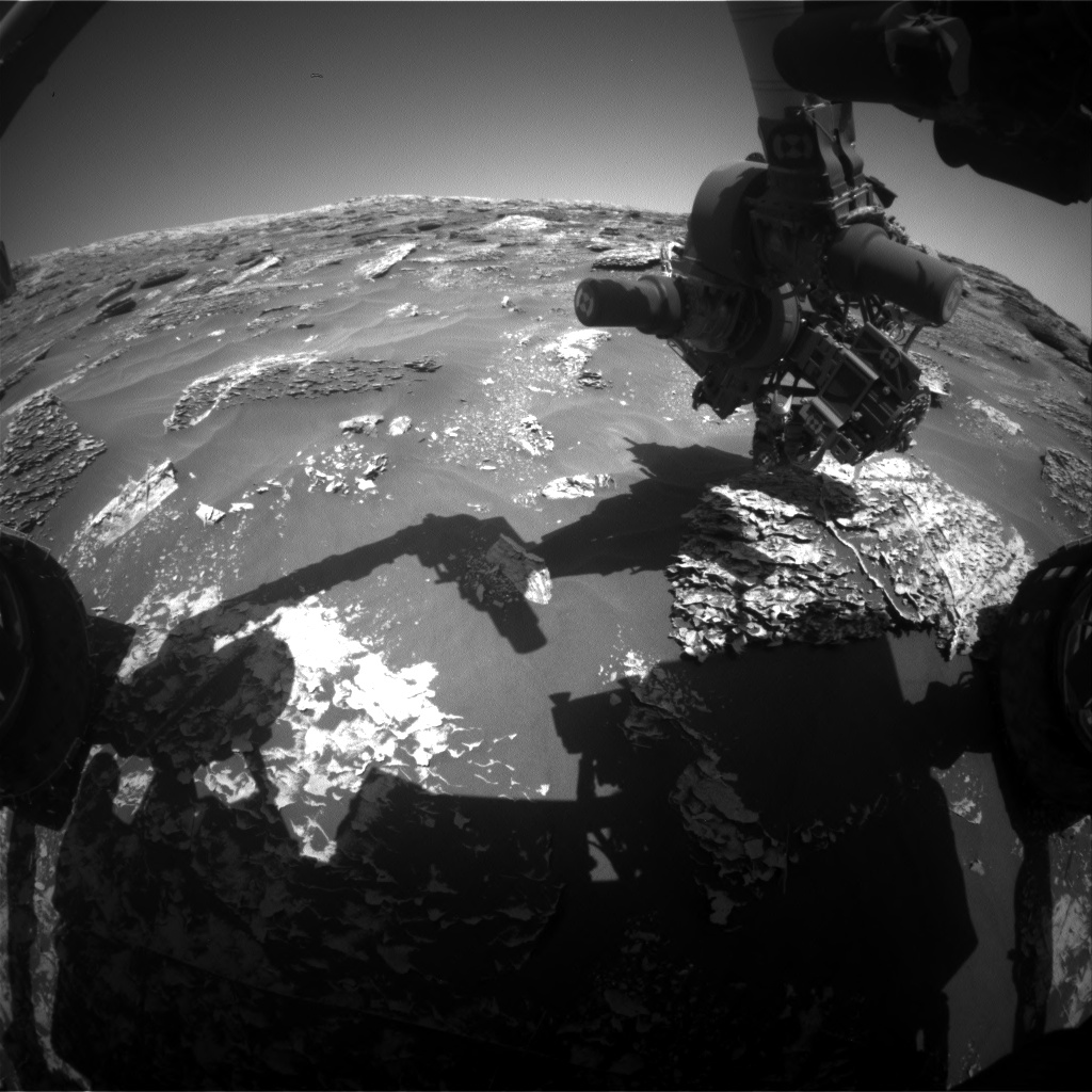 Nasa's Mars rover Curiosity acquired this image using its Front Hazard Avoidance Camera (Front Hazcam) on Sol 1800, at drive 2456, site number 65