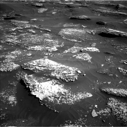 Nasa's Mars rover Curiosity acquired this image using its Left Navigation Camera on Sol 1800, at drive 2546, site number 65