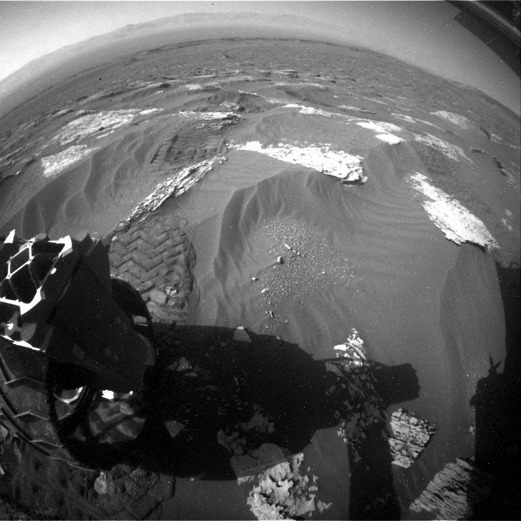 NASA's Mars rover Curiosity acquired this image using its Rear Hazard Avoidance Cameras (Rear Hazcams) on Sol 1800