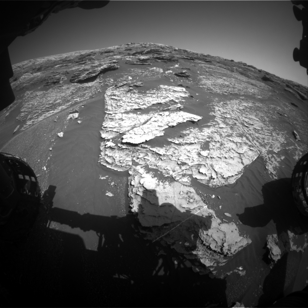 Nasa's Mars rover Curiosity acquired this image using its Front Hazard Avoidance Camera (Front Hazcam) on Sol 1801, at drive 2720, site number 65