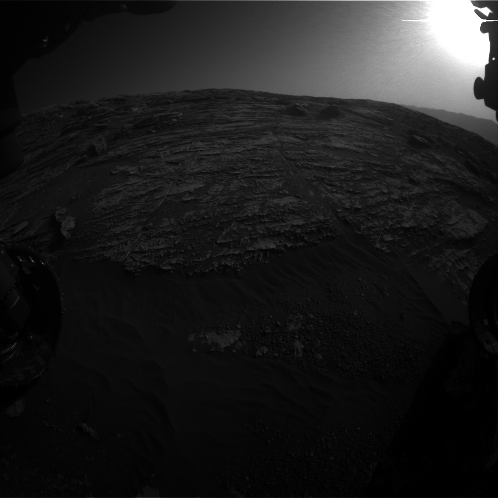 Nasa's Mars rover Curiosity acquired this image using its Front Hazard Avoidance Camera (Front Hazcam) on Sol 1802, at drive 2882, site number 65