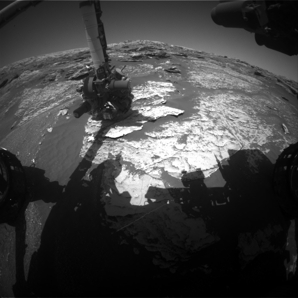 Nasa's Mars rover Curiosity acquired this image using its Front Hazard Avoidance Camera (Front Hazcam) on Sol 1802, at drive 2720, site number 65