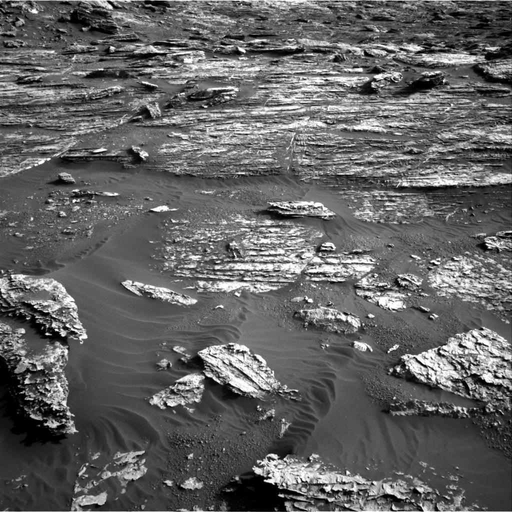 Nasa's Mars rover Curiosity acquired this image using its Right Navigation Camera on Sol 1802, at drive 2828, site number 65