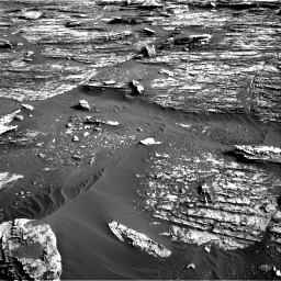 Nasa's Mars rover Curiosity acquired this image using its Right Navigation Camera on Sol 1802, at drive 2840, site number 65