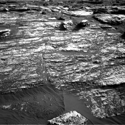 Nasa's Mars rover Curiosity acquired this image using its Right Navigation Camera on Sol 1802, at drive 2870, site number 65